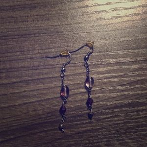Chained earring set.